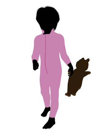 Peter of Peter Pan illustration silhouette on a white background Stock Illustration - 6586366