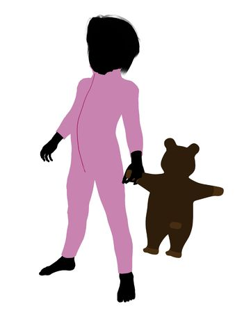 Peter of Peter Pan illustration silhouette on a white background Stock Illustration - 6586659