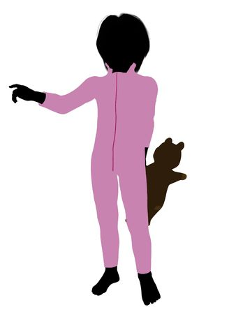 Peter of Peter Pan illustration silhouette on a white background Stock Illustration - 6586250