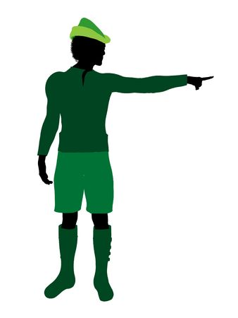 Peter Pan illustration silhouette on a white background Stock Illustration - 6586336