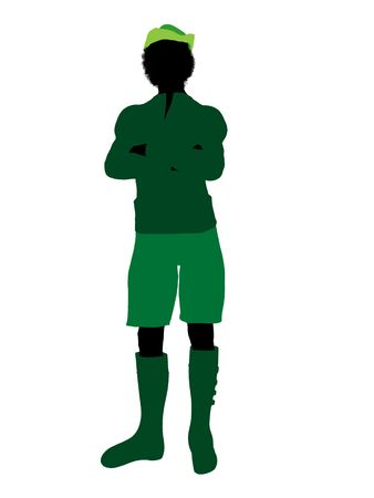 Peter Pan illustration silhouette on a white background Stock Illustration - 6586227