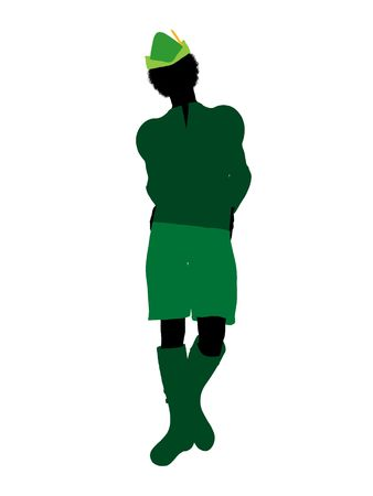 Peter Pan illustration silhouette on a white background illustration