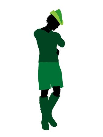 Peter Pan illustration silhouette on a white background Stock Illustration - 6585905