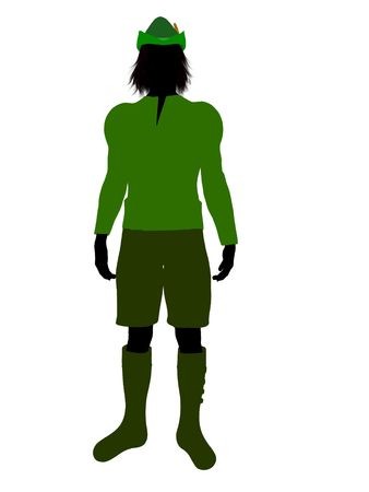 Peter Pan illustration silhouette on a white background Stock Illustration - 6586452