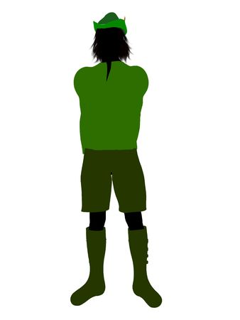 tinker: Peter Pan illustration silhouette on a white background