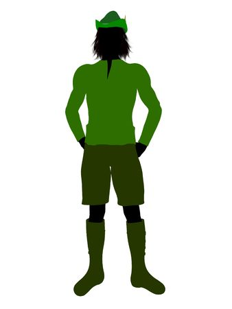 Peter Pan illustration silhouette on a white background Stock Illustration - 6586081