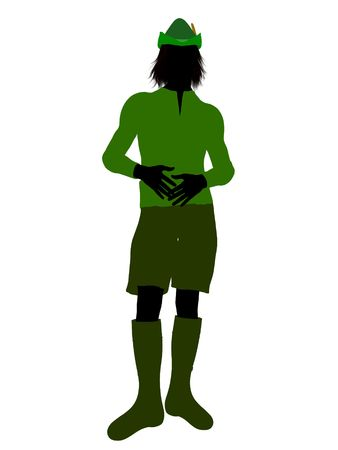 Peter Pan illustration silhouette on a white background Stock Illustration - 6586202