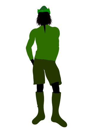 Peter Pan illustration silhouette on a white background Stock Illustration - 6586252