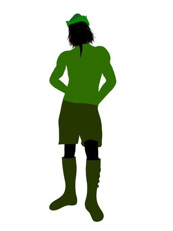 Peter Pan illustration silhouette on a white background Stock Illustration - 6586190