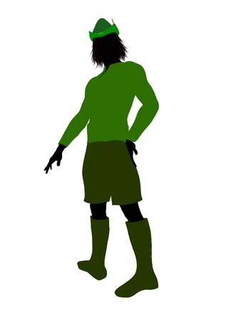 Peter Pan illustration silhouette on a white background Stock Illustration - 6586161