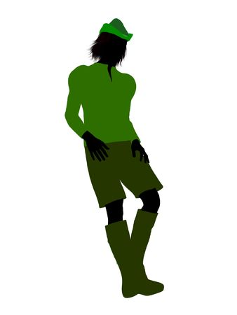 Peter Pan illustration silhouette on a white background Stock Illustration - 6586093