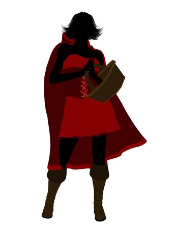 Little Red Riding Hood illustration silhouette on a white background Stock Illustration - 6586656
