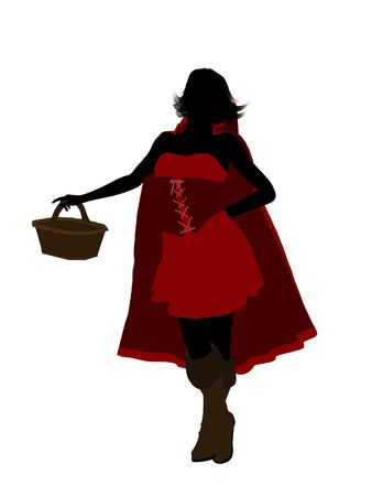 Little Red Riding Hood illustration silhouette on a white background Stock Illustration - 6586626