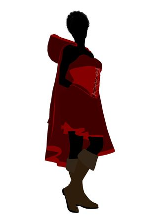 Little Red Riding Hood illustration silhouette on a white background Stock Illustration - 6586679