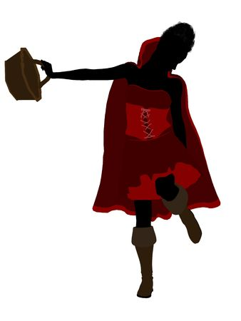 Little Red Riding Hood illustration silhouette on a white background Stock Illustration - 6586923