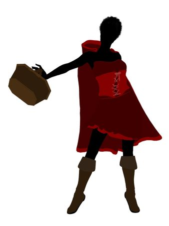 Little Red Riding Hood illustration silhouette on a white background Stock Illustration - 6586910