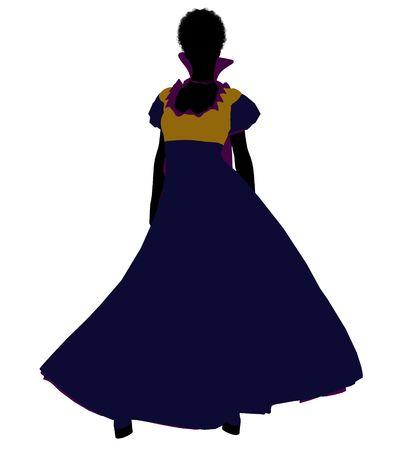 Snow White illustration silhouette on a white background