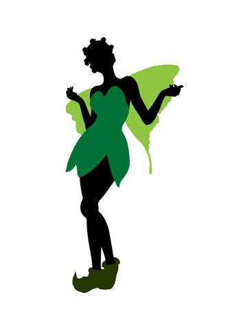 Tinker Bell illustration silhouette on a white background Stock Illustration - 6586379