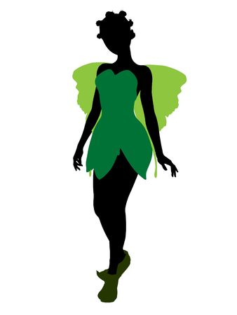 Tinker Bell illustration silhouette on a white background Stock Illustration - 6586532