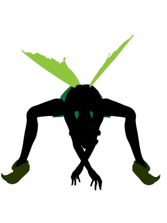 Tinker Bell illustration silhouette on a white background Stock Illustration - 6586577