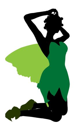 Tinker Bell illustration silhouette on a white background Stock Illustration - 6586175