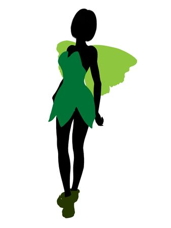 Tinker Bell illustration silhouette on a white background Stock Illustration - 6586052