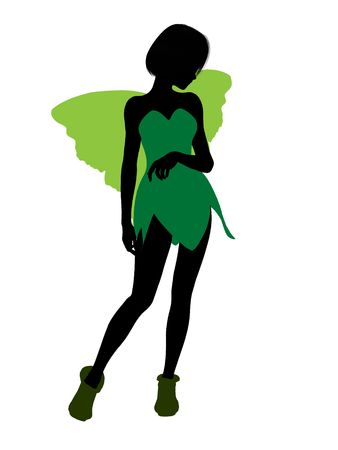 Tinker Bell illustration silhouette on a white background Stock Illustration - 6586243