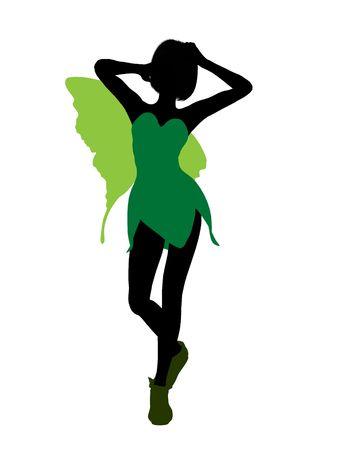 Tinker Bell illustration silhouette on a white background Stock Illustration - 6586855
