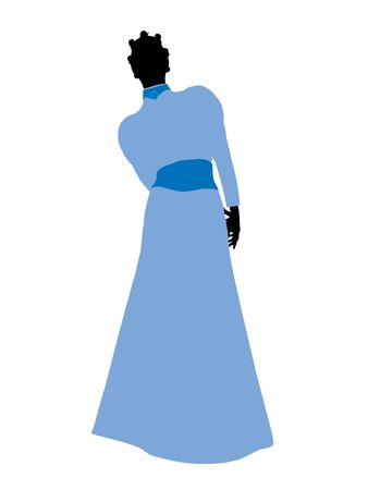 Wendy of Peter Pan illustration silhouette on a white background Stock Illustration - 6585815