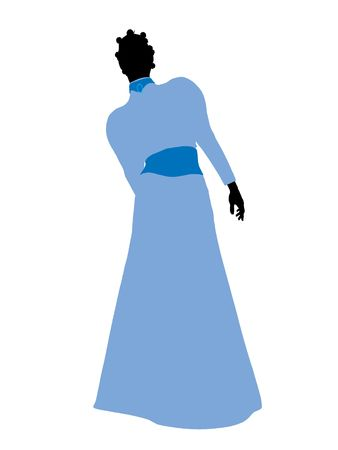 Wendy of Peter Pan illustration silhouette on a white background Stock Illustration - 6585811