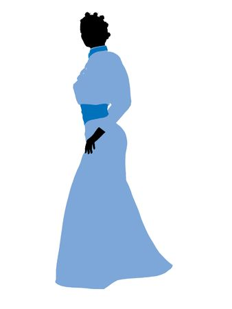 Wendy of Peter Pan illustration silhouette on a white background illustration