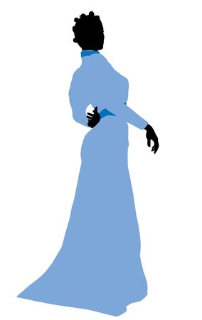Wendy of Peter Pan illustration silhouette on a white background Stock Illustration - 6585837