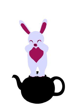 lapin blanc: