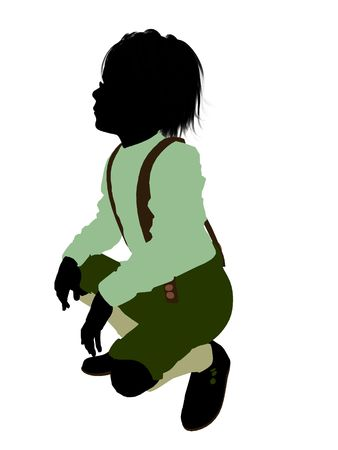 grimm: Hansel and gretal illustration silhouette on a white background