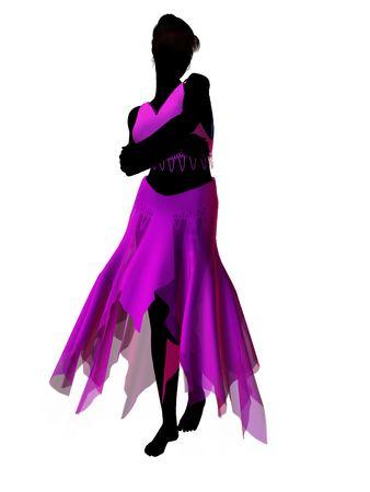 Silhouette di illustrazione delle fiabe Aladdin su sfondo bianco Archivio Fotografico - 6664684