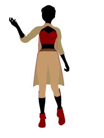 Aladdin fairytale illustration silhouette on a white background Archivio Fotografico - 6664853