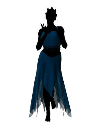 Siluetta dell'illustrazione di favola di Aladdin su una priorità bassa bianca Archivio Fotografico - 6664724