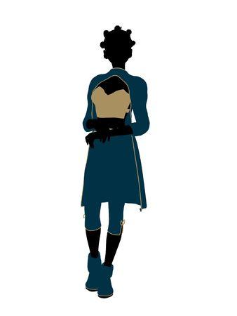 Aladdin favola illustrazione sagoma su uno sfondo bianco Archivio Fotografico - 6664875