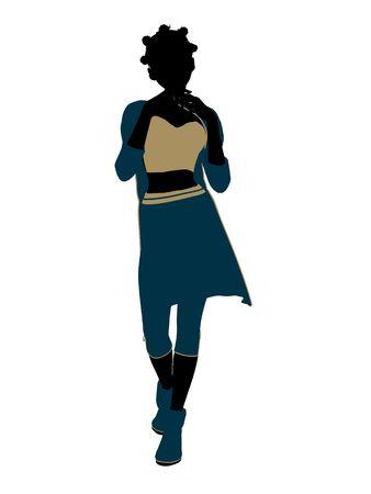 aladdin: Aladdin fairytale illustration silhouette on a white background Stock Photo
