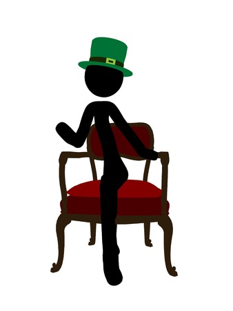 figuration: St. Patricks day stickman silhouette illustration on a white background Stock Photo