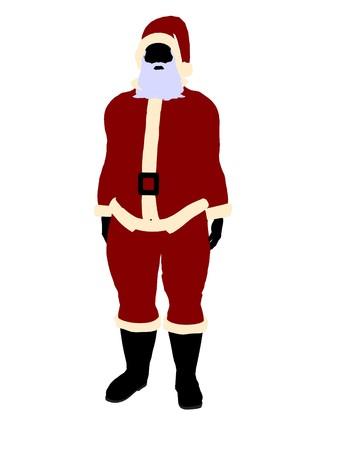 brownie: Santa claus silhouette on a white background Stock Photo