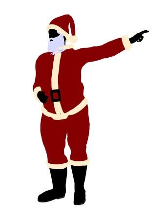 Santa claus silhouette on a white background Stock Photo