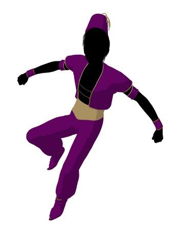 Arabian Boy Abbildung Silhouette auf wei?em Hintergrund Standard-Bild - 7655820