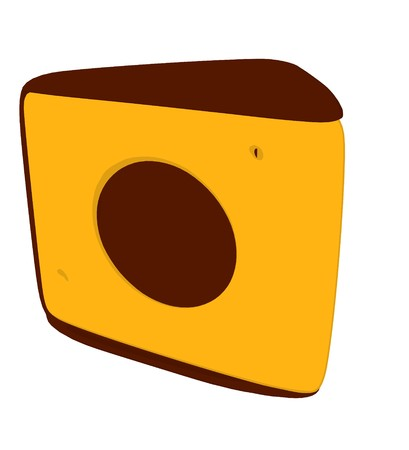 Cheese slices silhouette illustration on a white background Imagens