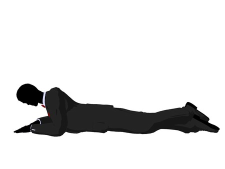Man dressed in a tuxedo silhouette illustration on a white background Stock Illustration - 7655118