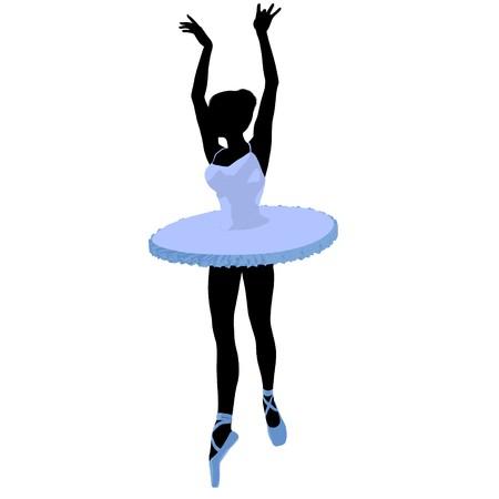 Ballerina silhouette on a white background Zdjęcie Seryjne - 7730605