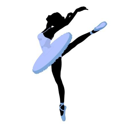 Ballerina silhouette on a white background Stock Photo - 7730573
