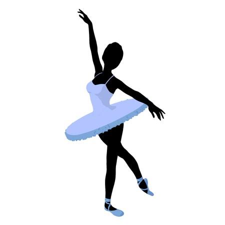 prima donna: Ballerina silhouette on a white background Stock Photo