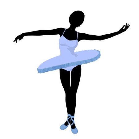 Ballerina silhouette on a white background Zdjęcie Seryjne - 7730723