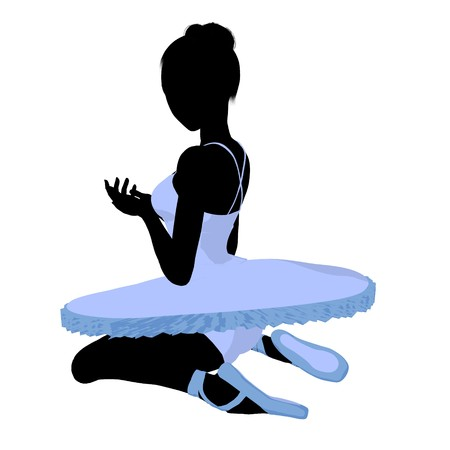 Ballerina silhouette on a white background Zdjęcie Seryjne